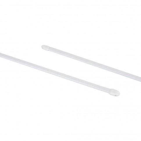 Bara perdeluta, extensibila, 30 / 45 cm, alba, set 2 bucati