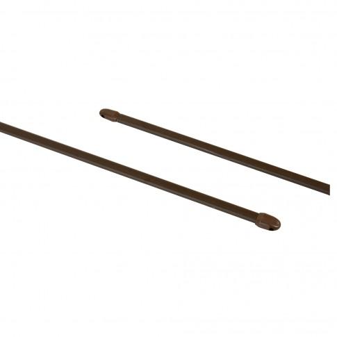 Bara perdeluta, extensibila, 100 / 150 cm, maro, set 2 bucati