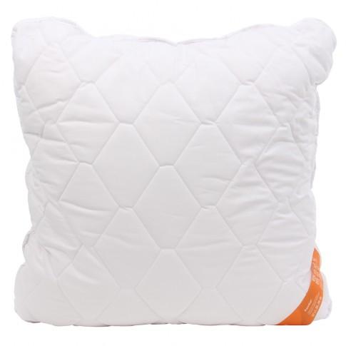 Perna pentru dormit Caressa, matlasata, hipoalergenica, fibra poliester siliconizata + bumbac, alb, 70 x 70 cm