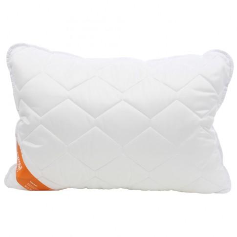 Perna pentru dormit Caressa, hipoalergenica, medicinala, fibra poliester siliconizata + poliester, alb, 50 x 70 cm