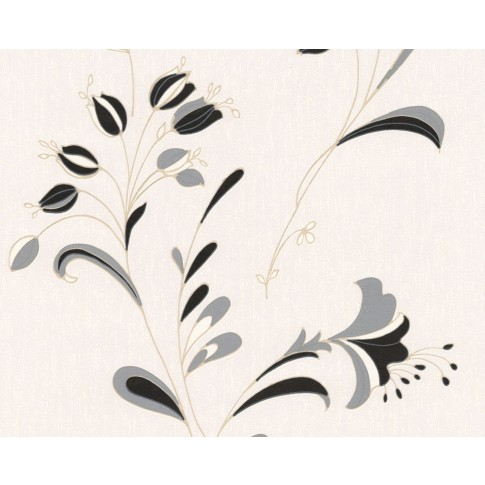 Tapet hartie, model floral, AS Creation 106742, 10 x 0.53 m