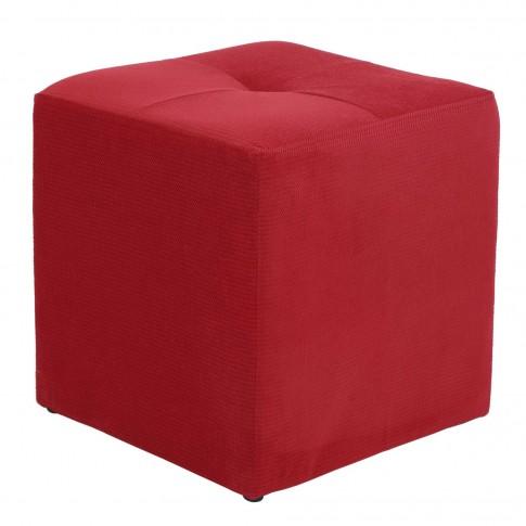 Taburet Cool tip cub, fix, patrat, stofa diverse culori, 35 x 35 x 36 cm
