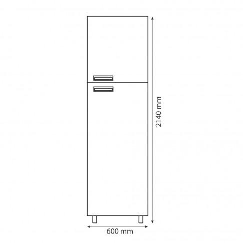 Dulap bucatarie Cataleya, rosu, 2 usi, 60 x 60 x 214 cm, 3C