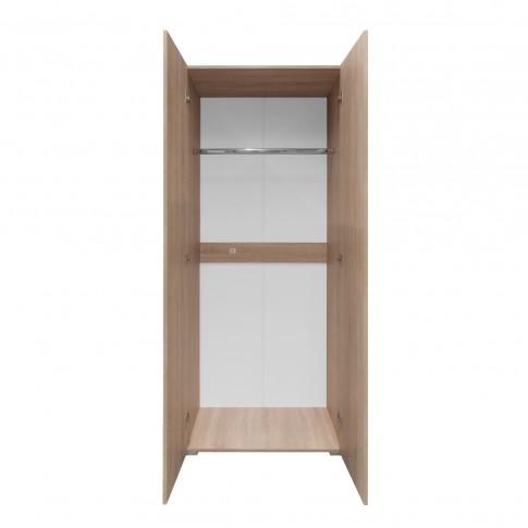 Dulap dormitor Universal 800, stejar bardolino, 2 usi, 80 x 52 x 195 cm, 2C