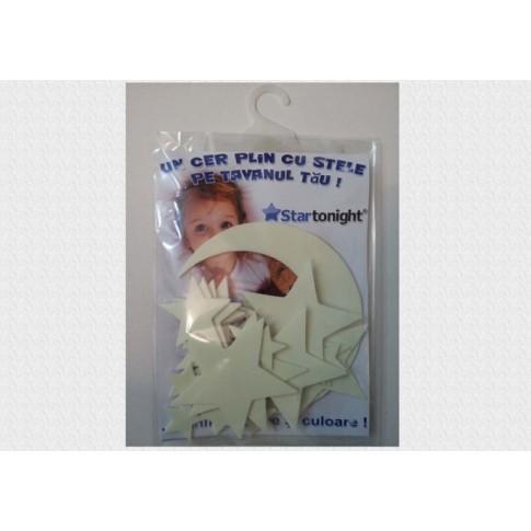 Sticker decorativ perete, camera copii, set 25 stelute maxi, STS009, 20 x 15 x 1 cm
