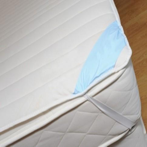 Protectie saltea, alba, poliester, 90 x 200 cm