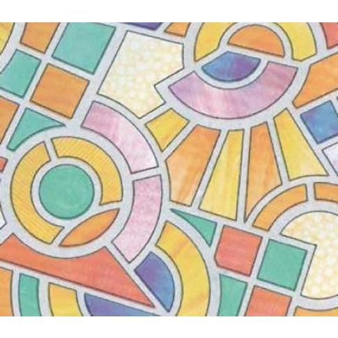 Autocolant vitraliu Gekkofix Nimes 10725, multicolor, 0.675 x 15 m