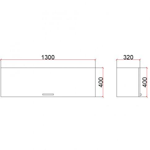 Corp suspendat cu usa Valentino 1300 LV4, diverse culori, 130 x 35 x 40 cm, 1C