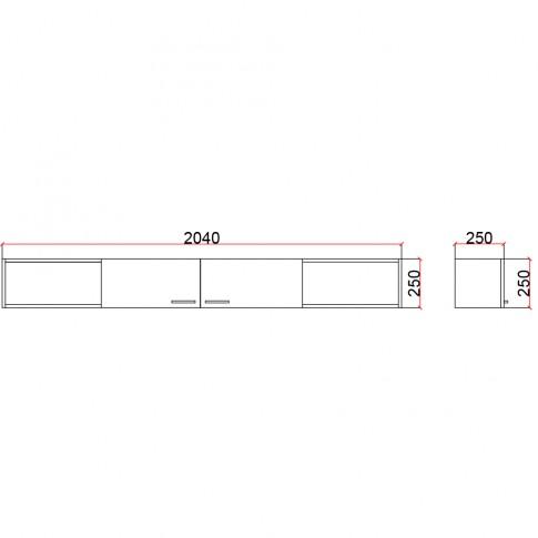 Corp suspendat camera tineret Natalia T7, cu 2 usi + rafturi, diverse culori, 204 x 25 x 25 cm, 1C