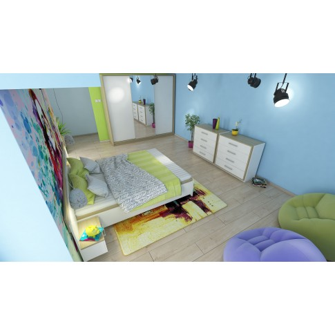 Comoda dormitor Stefan DS14, cu 4 sertare, diverse culori, 97 x 90 x 40 cm, 2C