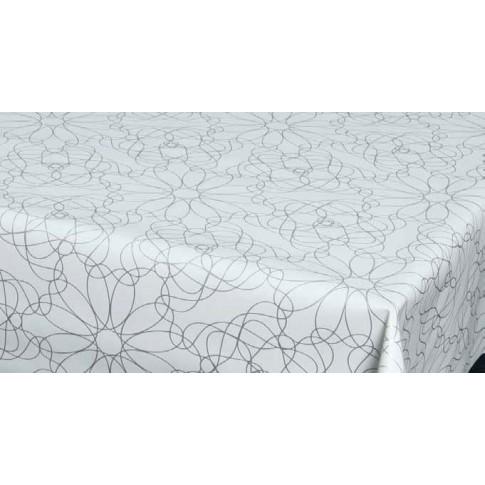 Fata de masa la rola Gfix Luce 19027, pvc, alb + gri, latime 140 cm