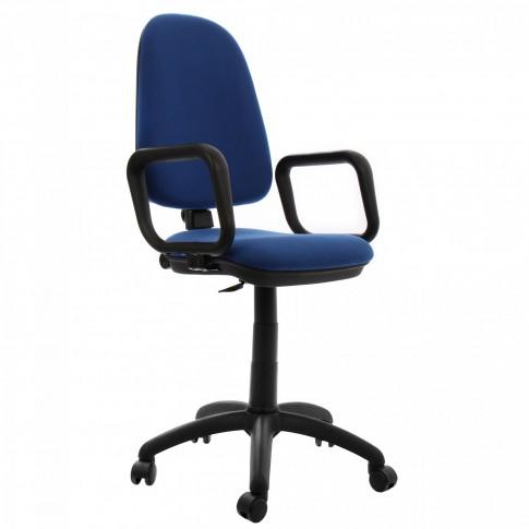 Scaun birou ergonomic Golf LX, rotativ, stofa C06, albastru inchis