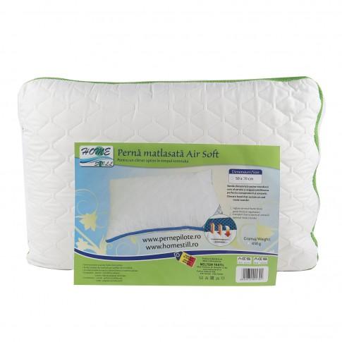 Perna pentru dormit Air Soft, microfibra matlasata, alba, 50 x 70 cm