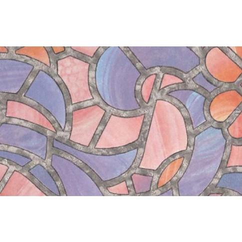 Autocolant vitraliu Gekkofix Reims 10381, multicolor, 0.675 x 15 m