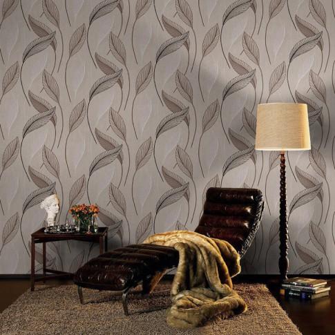 Tapet fibra textila, model frunze, Rasch 455038, 10 x 0.53 m