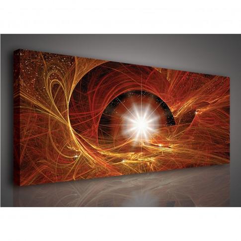 Tablou PP 13403, compozitie, canvas, 45 x 145 cm