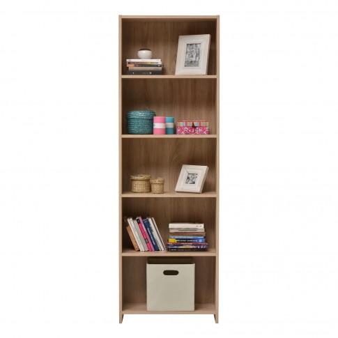 Etajera birou Buki, 5 rafturi, stejar sonoma, 57 x 24.5 x 175.5 cm, 1C