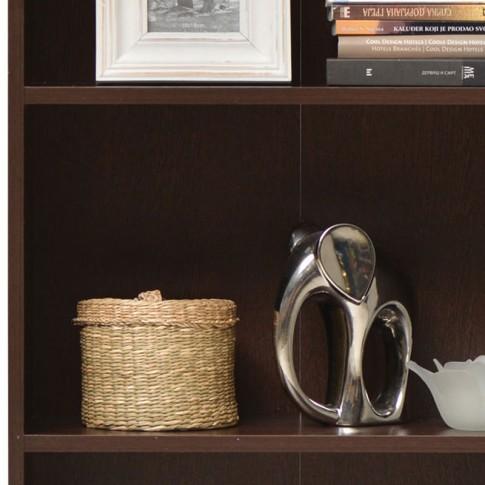 Etajera birou Buki, 5 rafturi, wenge, 57 x 24.5 x 175.5 cm, 1C