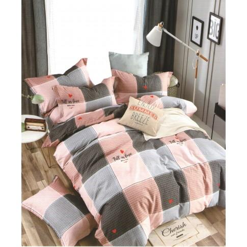 Lenjerie de pat, 2 persoane, policoton, 4 piese, diverse modele