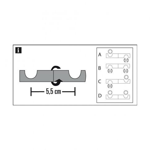 Adaptor consola tavan Chicago, metal, 20 mm, crom