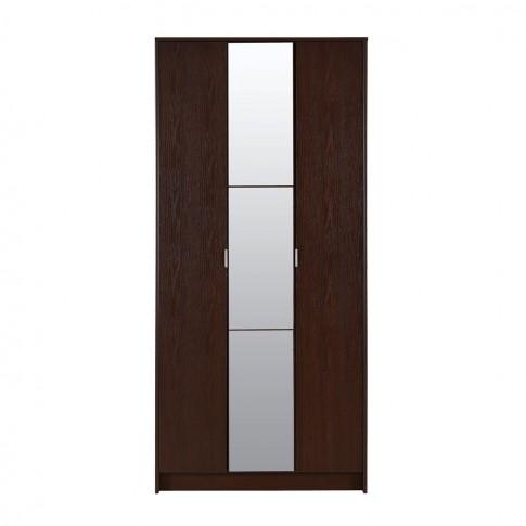 Dulap hol Kapri cu o agatatoare, oglinda si rafturi, wenge, 3 usi, 885 x 330 x 1915 mm, 2C