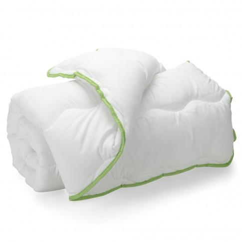 Pilota Dormeo Green Tea V2, microfibre Softdream poliester 100% + microfibre Wellsleep poliester 100%, alb, 200 x 200 cm