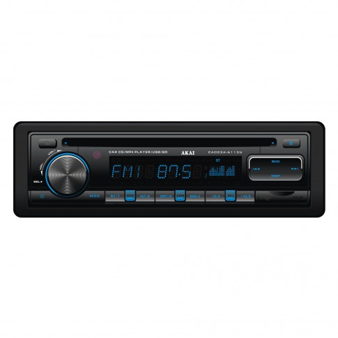 Radio CD / MP3 player auto Akai CA003A-6113U, 4 x 35 W, 1 DIN, USB, SD / MMC, Aux in, egalizator, functie suport folder, telecomanda