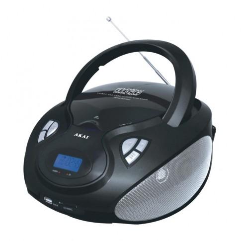 Radio CD / MP3 player Akai APRC9236U, 4 W, alimentare retea / baterii, radio FM/AM, USB, SD card reader, Aux in, functie Repeat