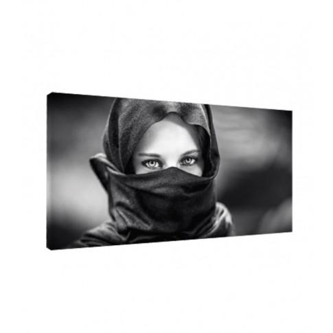Tablou, portret, canvas + sasiu brad, 30 x 60 cm