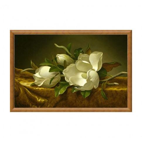 Tablou, compozitie cu flori, canvas + rama MDF, 50 x 80 cm