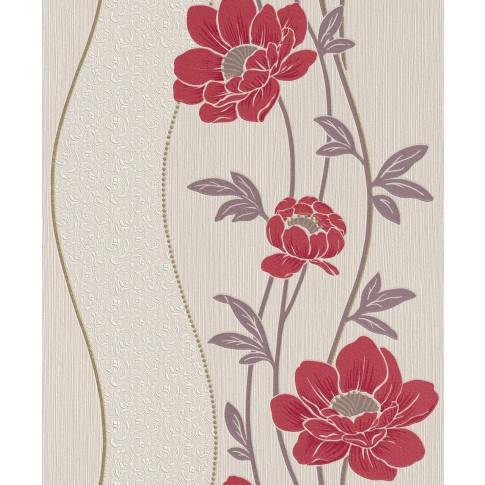 Tapet fibra textila, model floral, Rasch Plaisir 886511, 10 x 0.53 m