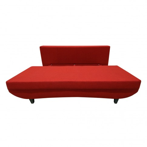Canapea extensibila 3 locuri Modern Dalin, cu lada, rosie, 191 x 83 x 78 cm, 2C