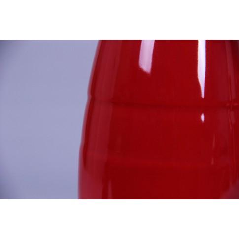 Vaza dolomita decorativa, 0082 115, rosu, 10.4 x 10.4 x 25.3 cm