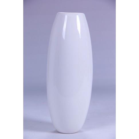 Vaza dolomita decorativa, 0109 115, alb, 8.5 x 8.5 x 21.8 cm