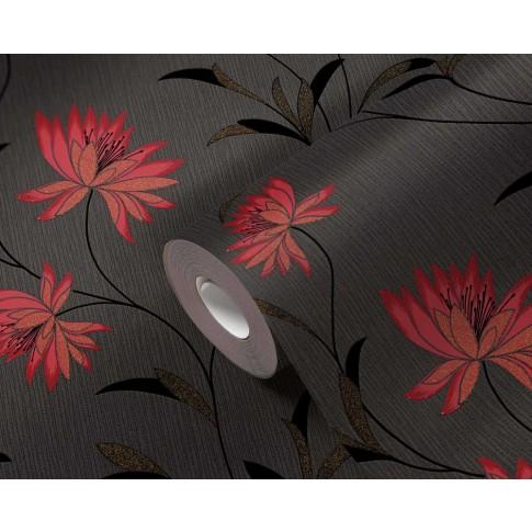 Tapet hartie, model floral, AS Creation Atlanta 957202, 10 x 0.53 m