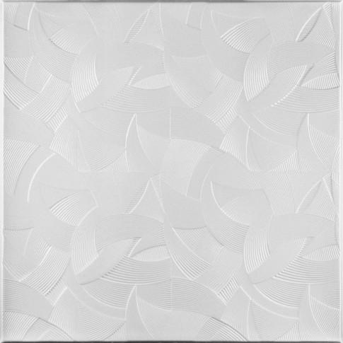 Tavan fals decorativ din polistiren C2005 clasic alb 50 x 50 x 0.3 cm