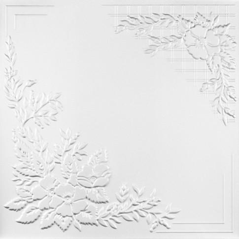 Tavan fals decorativ, polistiren extrudat, C2068, clasic, alb, 50 x 50 x 0.3 cm