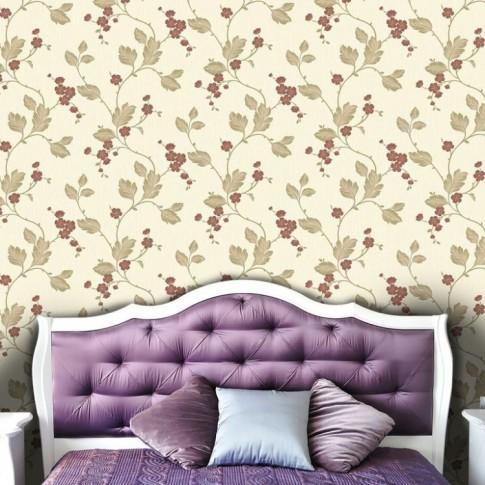 Tapet fibra textila, model floral, Grandeco Bella BOC-09-05-5, 10 x 0.53 m