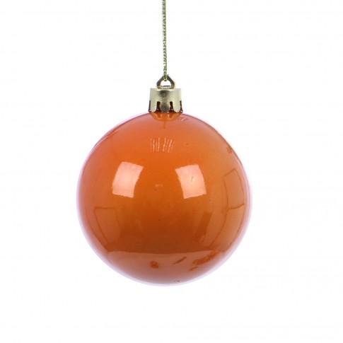 Globuri Craciun, portocalii, diametru 7 cm, set 16 bucati, SYB15-423