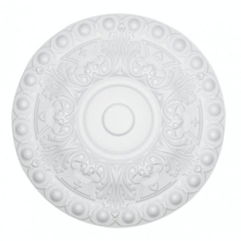 Rozeta din polistiren expandat, C304, baroc, alb, 48 x 1.5 cm