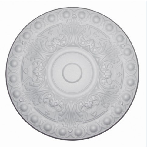 Rozeta din polistiren C304 baroc alb 48 x 1.5 cm