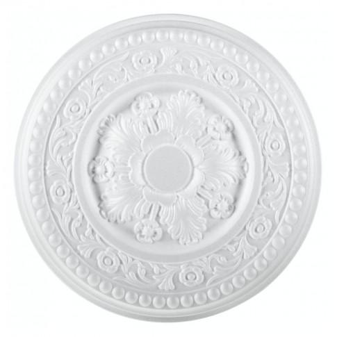 Rozeta din polistiren expandat, C310, baroc, alb, 38 x 4 cm