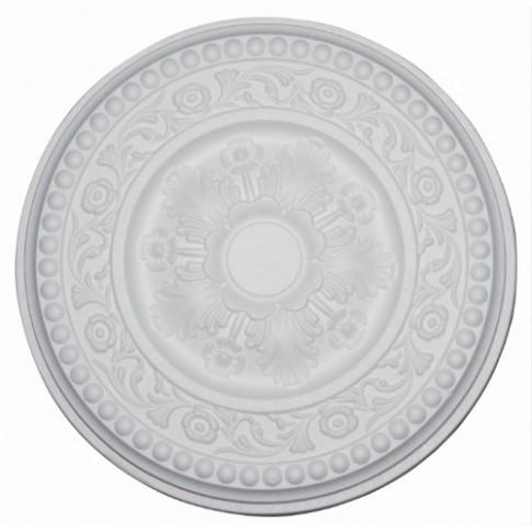 Rozeta din polistiren C310 baroc alb 38 x 4 cm