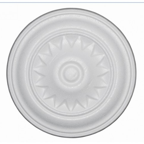 Rozeta din polistiren C311 baroc alb 18 x 1 cm