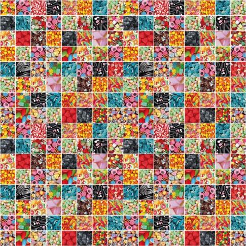 Autocolant pentru camera copii Gekkofix Candy 12868, multicolor, 0.45 x 15 m