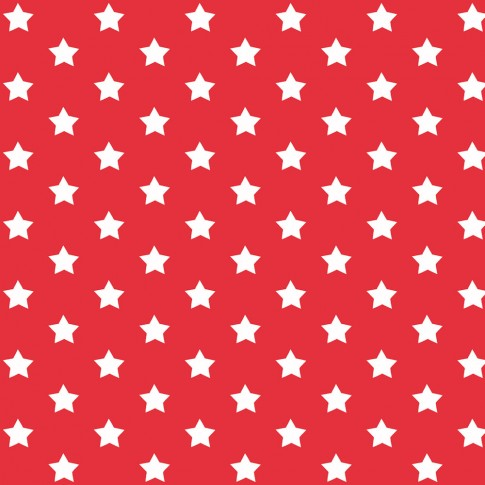 Autocolant decorativ Gekkofix Stars 13416, alb + rosu, 0.45 x 15 m