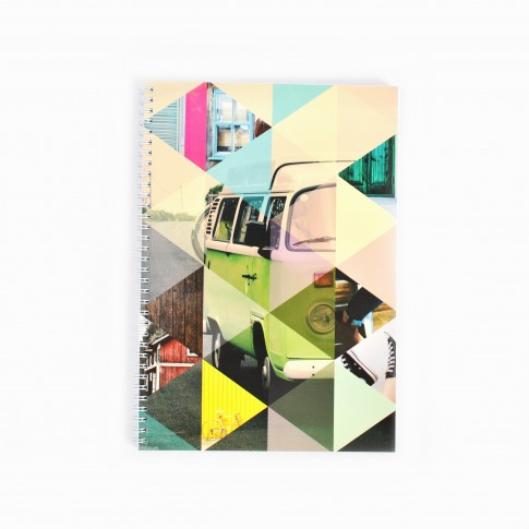 Caiet studentesc A4, spiralat, dictando, 100 file, 60 g/mp