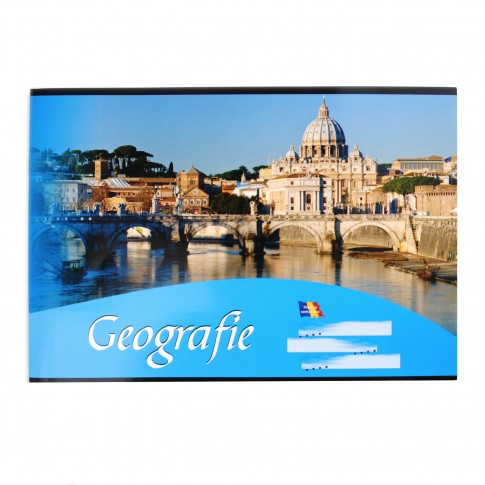 Caiet geografie, 16 File, 60 g/mp