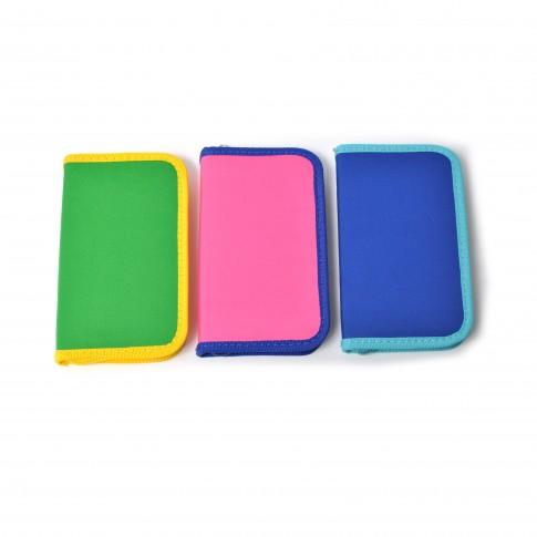 Penar 1 compartiment, 1 fermoar, bicolor, diverse culori