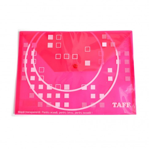 Mapa A4, plastic, cu buton